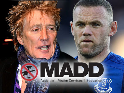 MADD Slams Rod Stewart, Don't Defend Wayne Rooney's DUI Arrest!