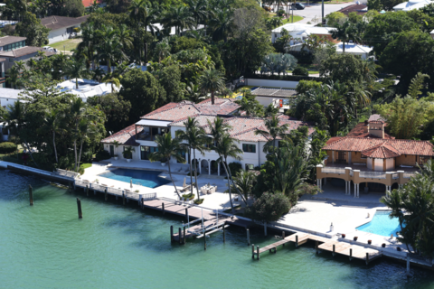 Dwayne Wade's Miami Beach home has 8 bedrooms, 9 bathrooms and 13k sq feet of living space.