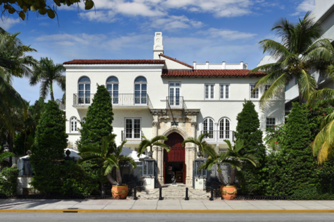 The Versace Mansion in Miami Beach.