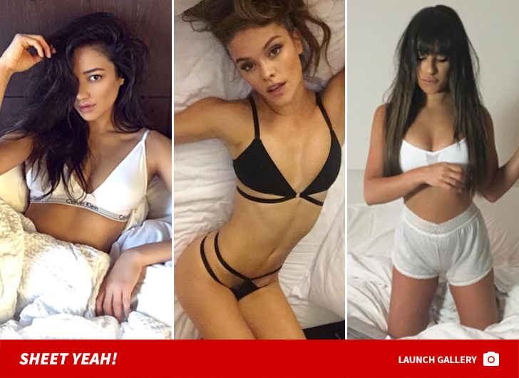 Snuggle Season Is Upon Us So Keep Calm And Cuddle Up To These Sexy Chicks Scroll Through These Babes In Bed To See Whos All Tucked In And Ready To