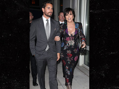 Kris Jenner and Scott Disick Lock Arms, Hold Hands Arriving to Kendall's Award Show