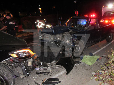 Macklemore Crash Scene, First Pics Show Truck Driver Swerved into His Lane