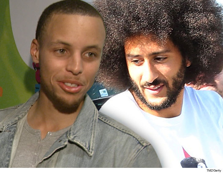 856e73583bb8 Steph Curry is disgusted that Colin Kaepernick is still in the unemployment  line ... and he s got a message for all the NFL teams refusing to sign him  ...