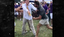 LSU Tailgate Fight: Cops Investigating Casted Ass-Kicker