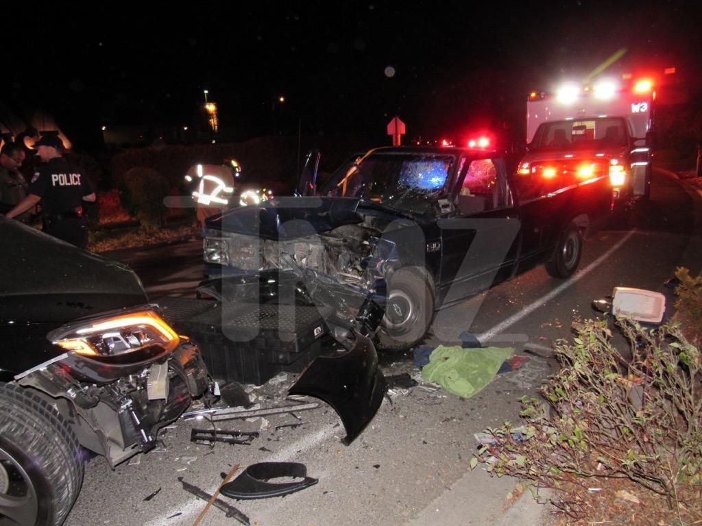 Macklemore Car Crash Scene   Photo 1   TMZ.com
