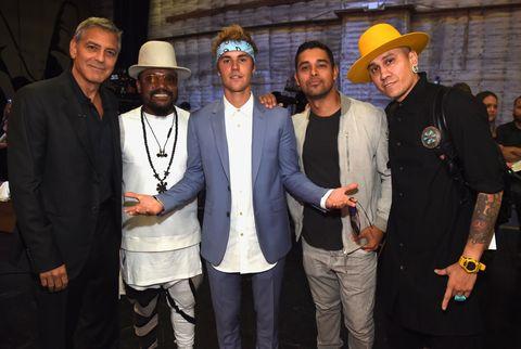 George Clooney, apple.de.ap, Justin Bieber, Wilmer Valderrama and Taboo