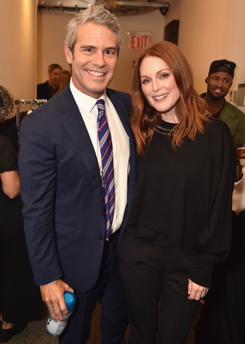 Andy Cohen and Julianne Moore
