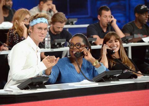 Justin Bieber, Oprah Winfrey and Sofia Vergara
