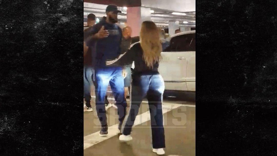 b3a99de1522e LeBron James   Khloe Kardashian Hug It Out After  Horror  Night ...
