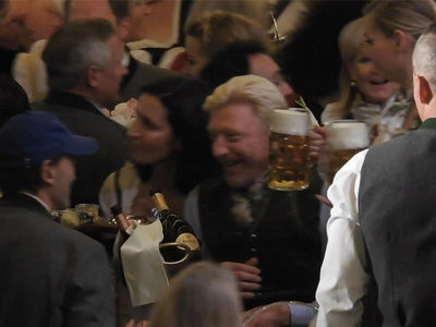 Broke Ass Boris Becker Rages at Oktoberfest, No Money? No Problem!