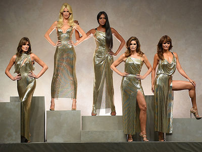 Claudia, Naomi, Cindy and More Hold Supermodel Reunion for Versace