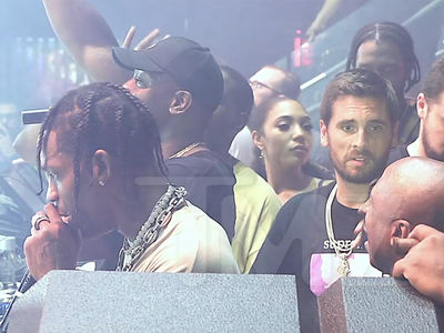 Travis Scott and Scott Disick Turn Up at Concert After News Kylie's Pregnant