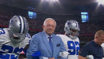 Jerry Jones and the Dallas Cowboys Take a Knee Before National Anthem on MNF