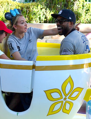 Demario Jackson and  Corinne Olympios at Disneyland