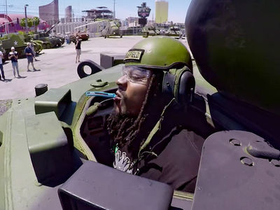 Marshawn Lynch Crushin' Cars in Army Tank for New Reality Show