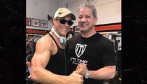 Jean-Claude Van Damme & UFC's Bruce Buffer Get Jacked at Gold's Gym