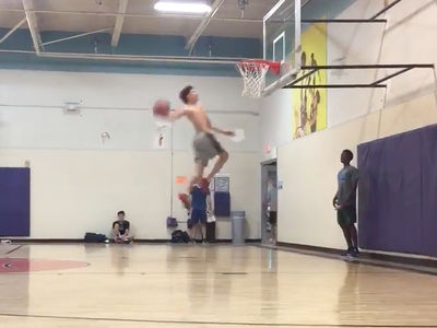 LaMelo Ball Throws Down Nasty Windmill Dunk, Disses His Old High School