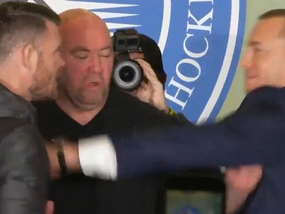 GSP Blows Up on Michael Bisping Backstage: 'Don't Touch Me!'