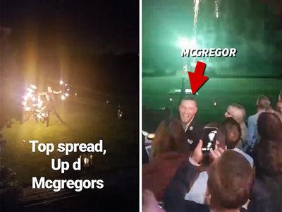Conor McGregor Baptizes Conor Jr., Wild Party Ensues