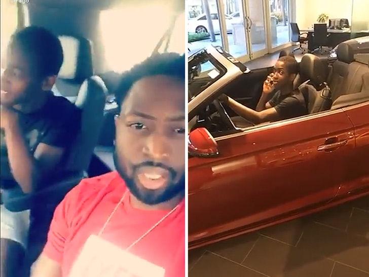 Dwyane Wade Shuts Down Sons Ferrari Dream In Car Dealership Visit