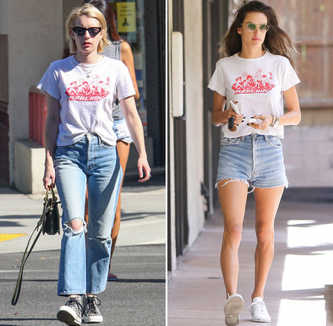 Emma Roberts (26) vs. Alessandra Ambrosio (36)