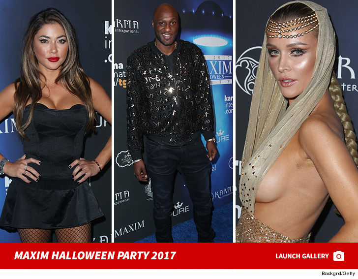 maxim always throws the best parties and their halloween offering did not disappoint