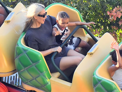 Kim Kardashian Celebrates 37th Birthday with Family at Disneyland
