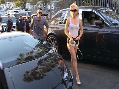 Lady Gaga Made Crazy Lamborghini Entrance at World Series