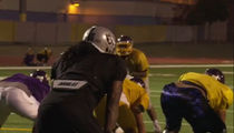 Marshawn Lynch Bulldozes High Schoolers at Team Practice