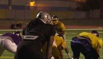 Marshawn Lynch Bulldozes High Schoolers at Team Practice