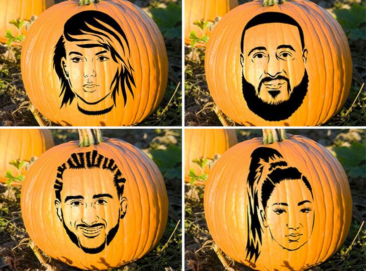 Celebrity Pumpkin Stencils     Can You Hack It