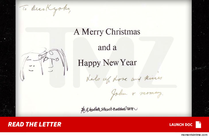 john lennon s christmas card to yoko ono s ex for sale tmz com