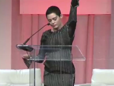 Rose McGowan's First Public Speech Since Harvey Weinstein Scandal