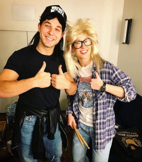 Skylar Astin and Anna Camp