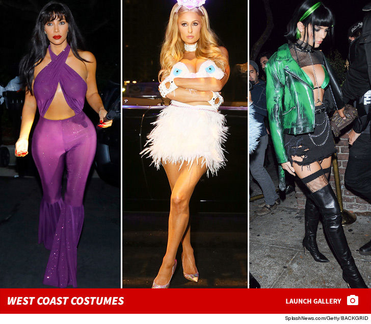 Kim Kardashian Paris Hilton Dominate West Coast Halloween Party  sc 1 st  TMZ.com : kim k halloween costumes  - Germanpascual.Com