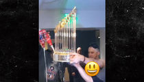 Houston Astros Turn W.S. Trophy Into Beer Luge in Wild Locker Room Turn Up