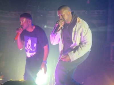 Kanye West Performs for First Time in a Year at Kid Cudi Concert