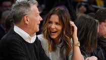 Katharine McPhee & David Foster Gaze Courtside At Lakers Game
