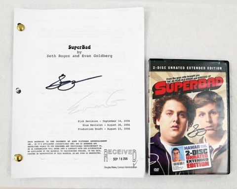'Superbad' Original Movie Script Signed by Seth Rogan and Evan Goldberg