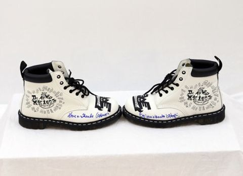 Doc Marten Sneakers Autographed by Whoopi Goldberg
