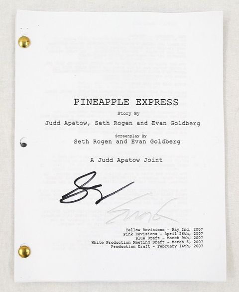 'Pineapple Express' Original Script Signed by Seth Rogan and Evan Goldberg