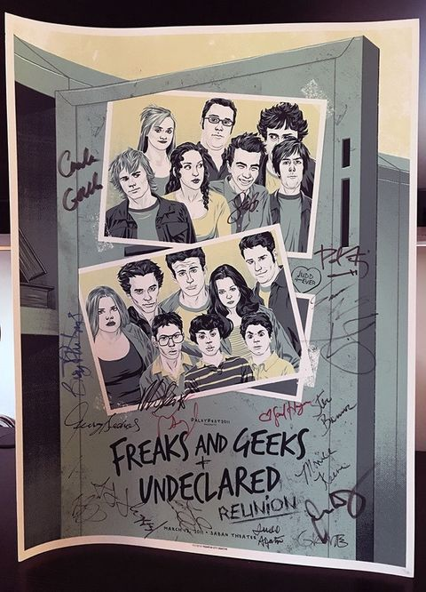 'Freaks and Geeks' and 'Undeclared' Poster Signed by Cast