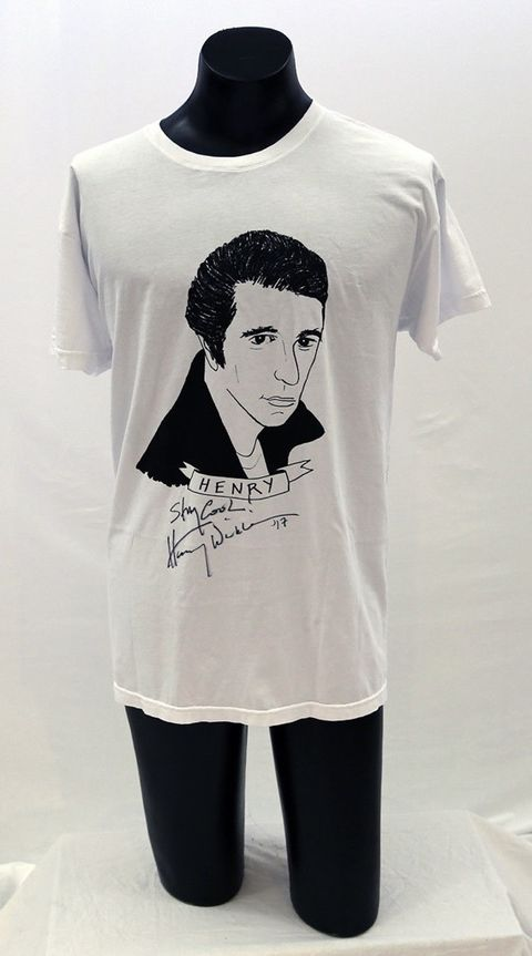 "Art Project Limited Edition ""Fonz"" T-Shirt Autographed by Henry Winkler"