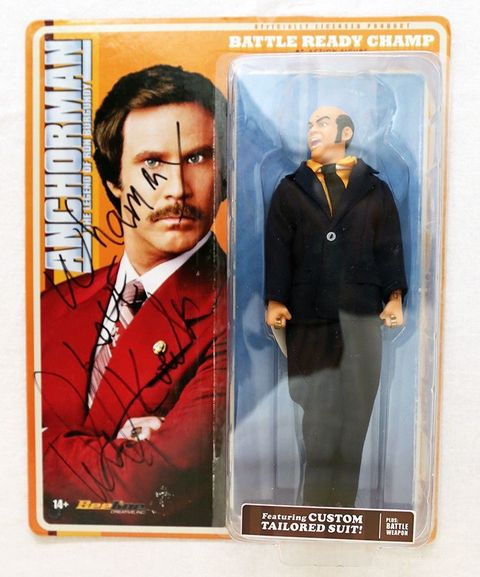 Champ Kind Doll Autographed by David Koechner from 'Anchorman'