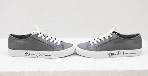 Grey Size 8 Women's ED Sneakers Autographed by Ellen Degeneres