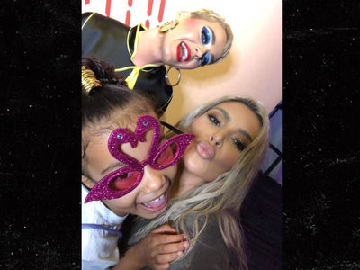 Kim Kardashian and North West Hit Up Katy Perry Concert