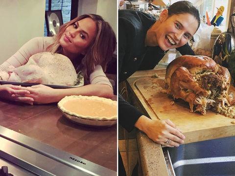 Chrissy Teigen (31) vs. Bianca Balti (33) -- Babes with Birds Edition