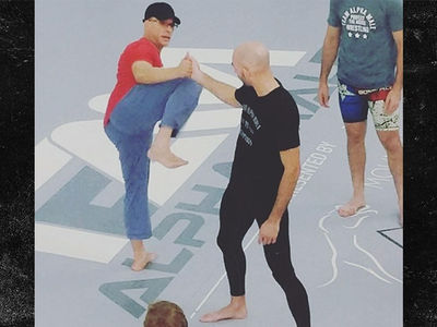 Jean-Claude Van Damme Schools UFC Stars In Fighting Class
