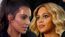Kim Kardashian and Beyonce Cordial-ish at Serena's Wedding