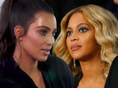 Kim Kardashian and Beyonce Cordial-ish at Serena's Wedding